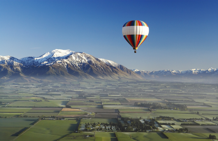 Balloon over Canterbury plains