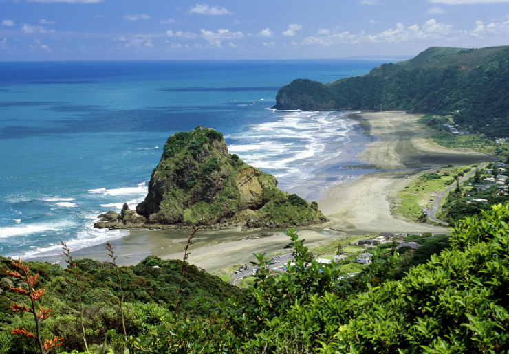 Piha beach on Auckland's West Coast