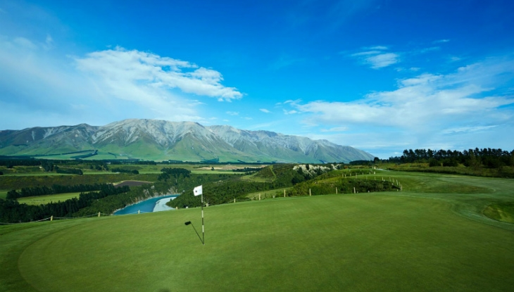 Terrace Downs Golf Resort, Christchurch, view from the 16th