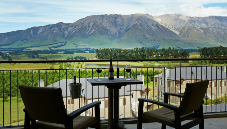 Terrace Downs Resort, Christchurch, Balcony view