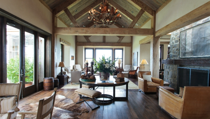 Cape Kidnappers Lodge, the main lounge