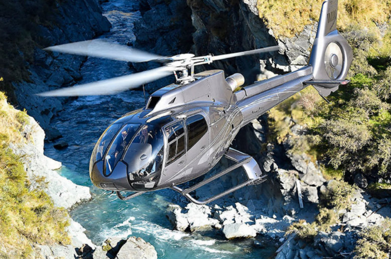 H-130 private helicopter transfer in New Zealand