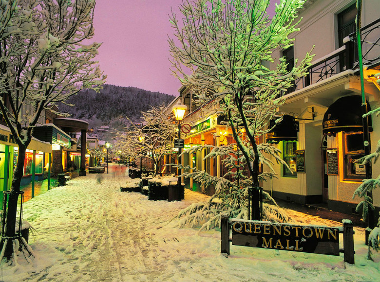 Queenstown in the snow