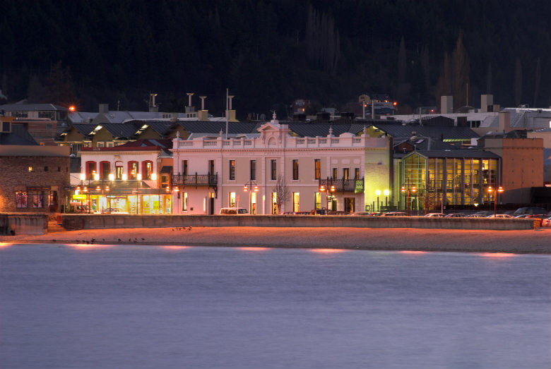 Eichardts Private Hotel from Lake Wakatipu, Queenstown