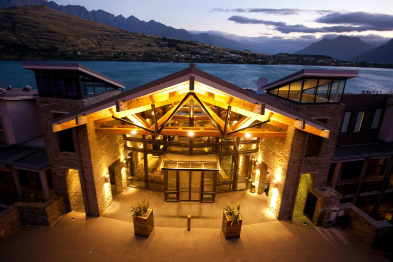 The Rees Hotel Queenstown at night