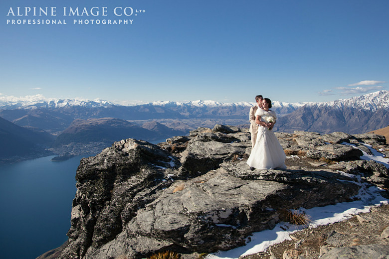 This bride and groom image was supplied by the Alpine Image Company