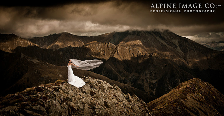 This bride image was supplied by the Alpine Image Company