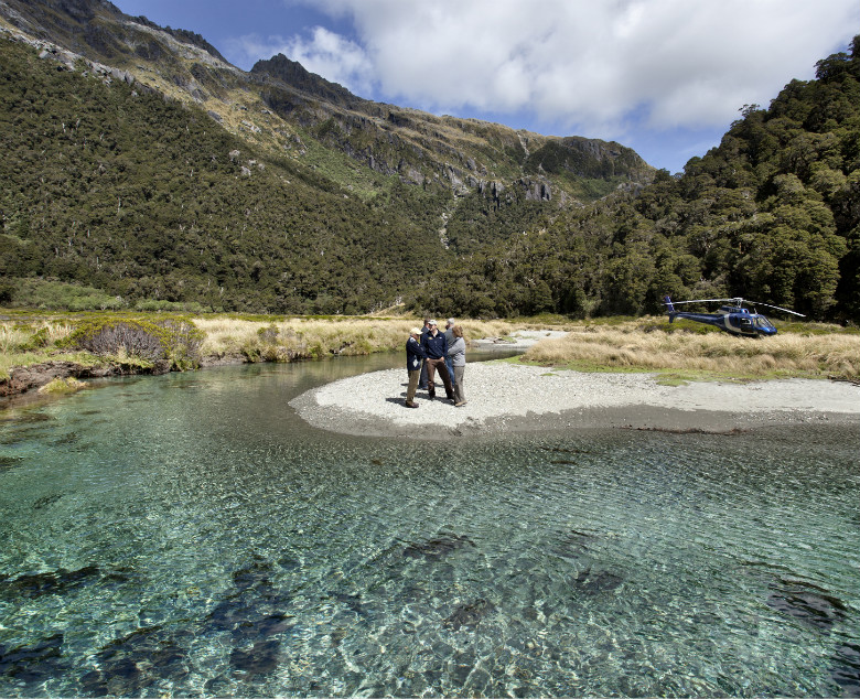 Exclusive heli trip assessed from Minaret Station