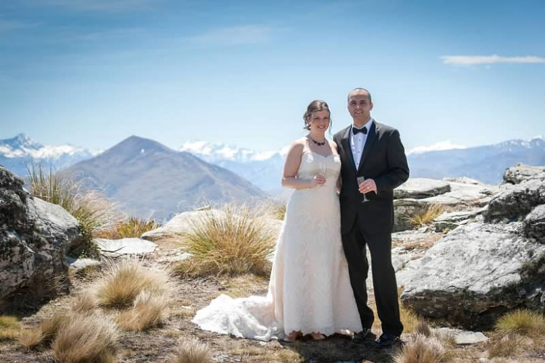 Frank and Aileen exclusive heli-wedding, Queenstown, New Zealand
