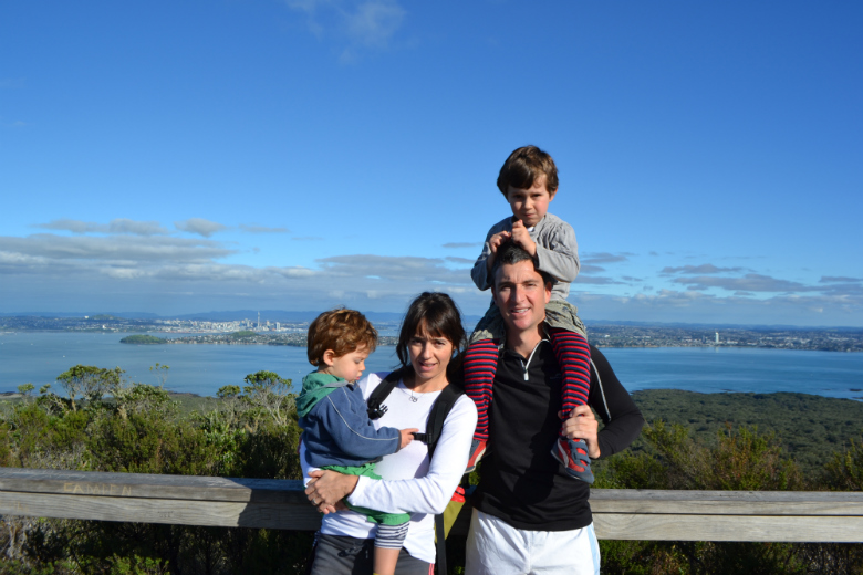 Carole and Tony on Rangitoto Island