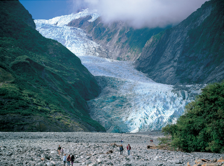 Fox Glacier, considered by many to be a top 10 New Zealand experience.