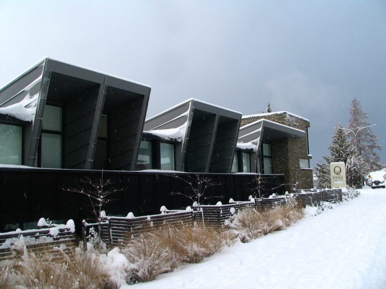 Queenstown Park Hotel with snow