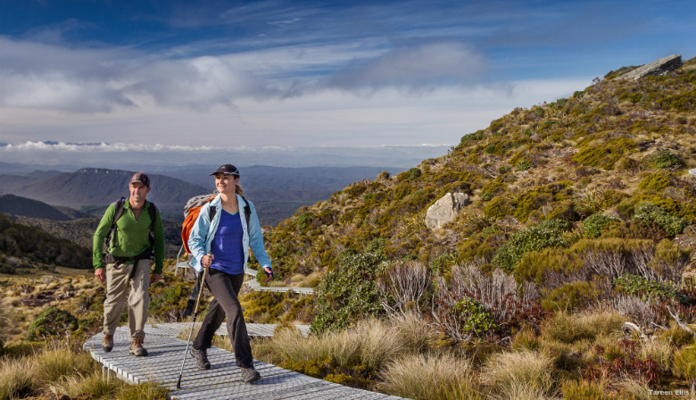 Hiking in New Zealand's great outdoors