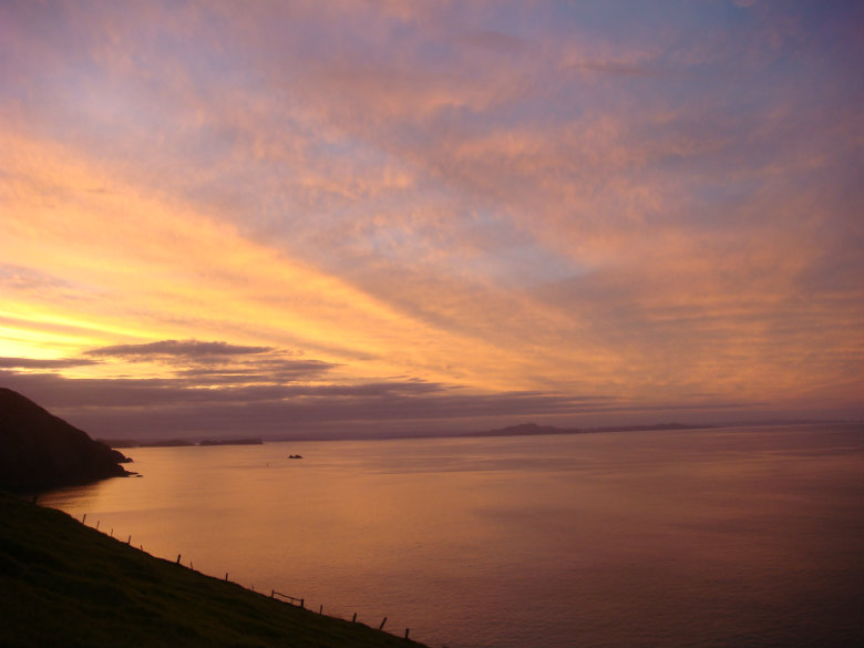Hopefully you'll be as lucky to see a sunset like this from the lighthouse on the Cape Brett Track!