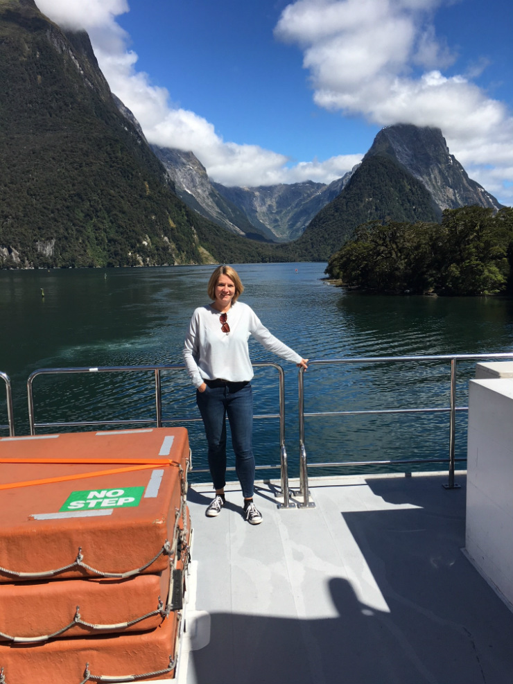 Aboard the Southern Discovery, cruising in Milford Sound