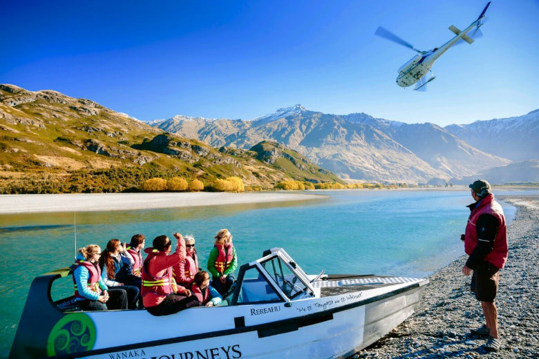 Glacier jet boat and heli combo adventure, near Wanaka
