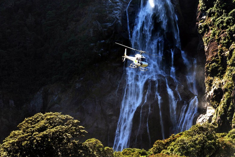 Take a helicopter trip deep into Fiordland National Park