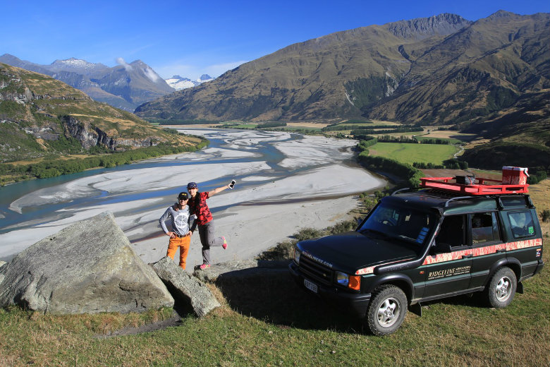 Enjoying a private high country 4wd experience near Wanaka in the South Island of New Zealand