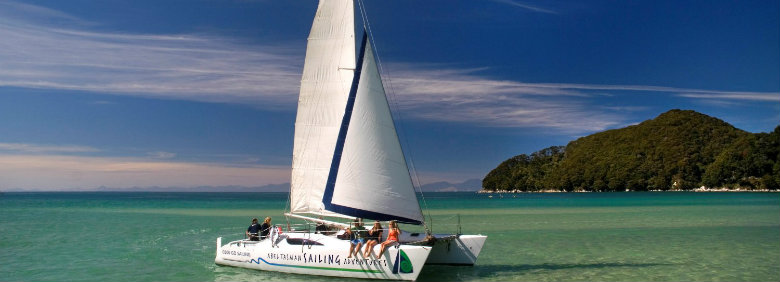 Sailing in the Abel Tasman National Park