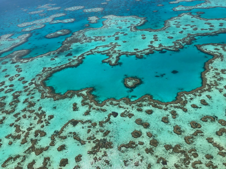 Heart Reef - view from the helicopter, Great Barrier Reef, Australia