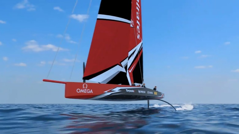 Americas Cup foiling monohull