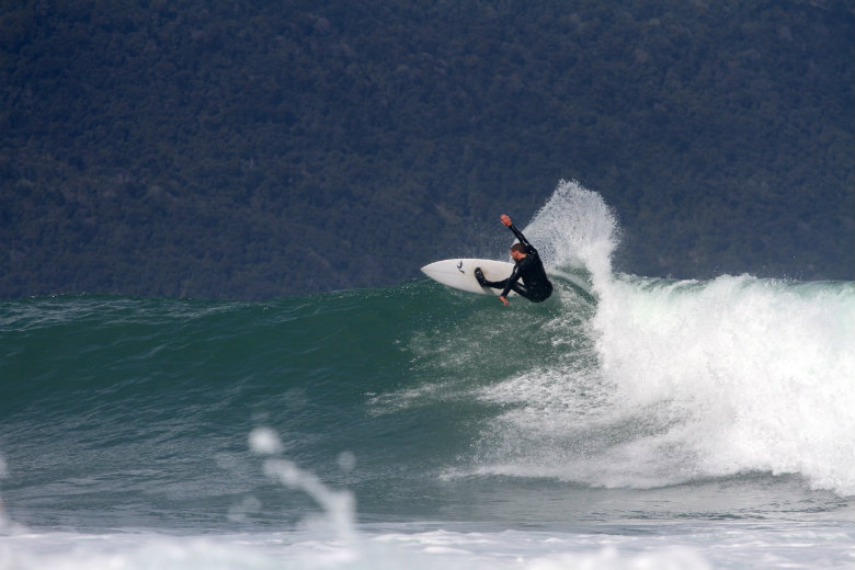 Surfing in Fiordland National Park