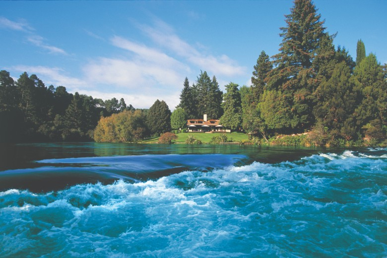 Huka Lodge view from Huka Falls