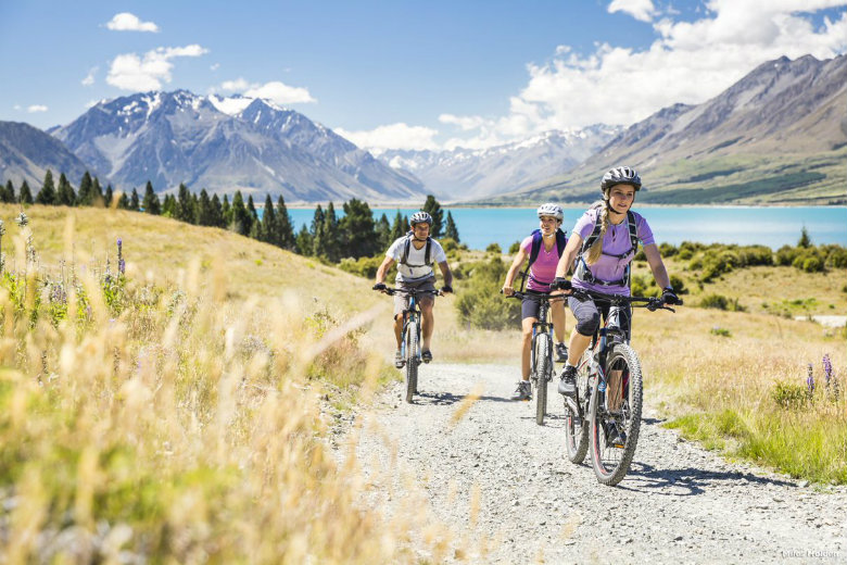 Bike riding is one of the activities on offer at the Lindis Luxury Lodge