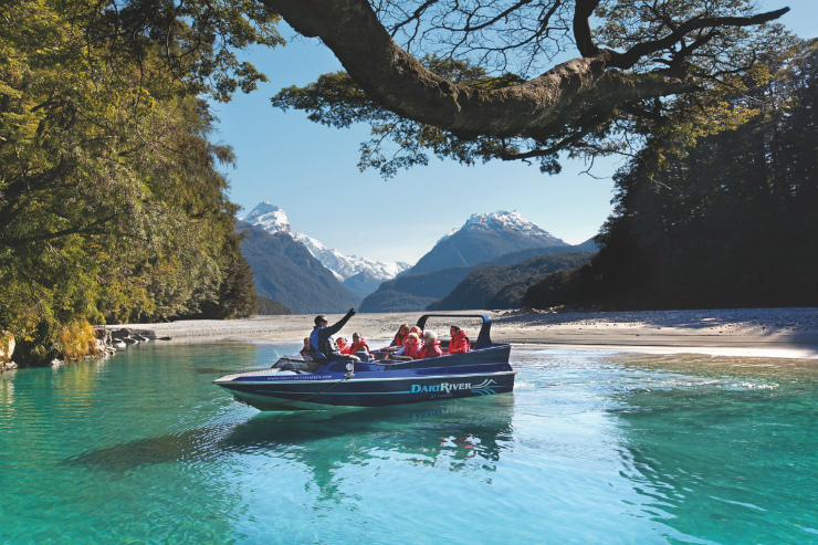 Jet boating South Island