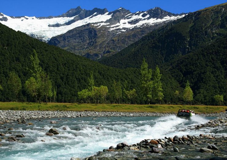 Jet boating in New Zealands South Island