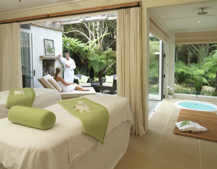 Kauri Cliffs spa treatment room