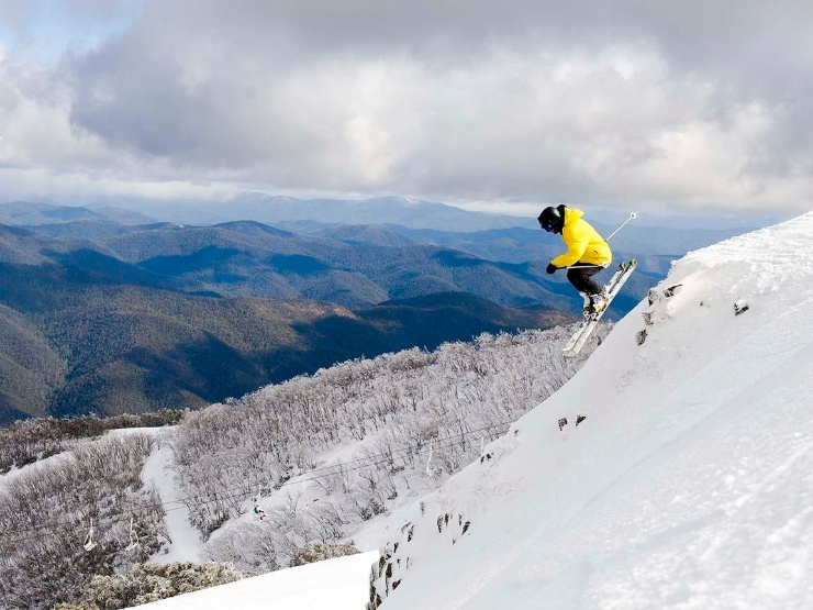 Skiing Mt Buller, credit Andrew Railton