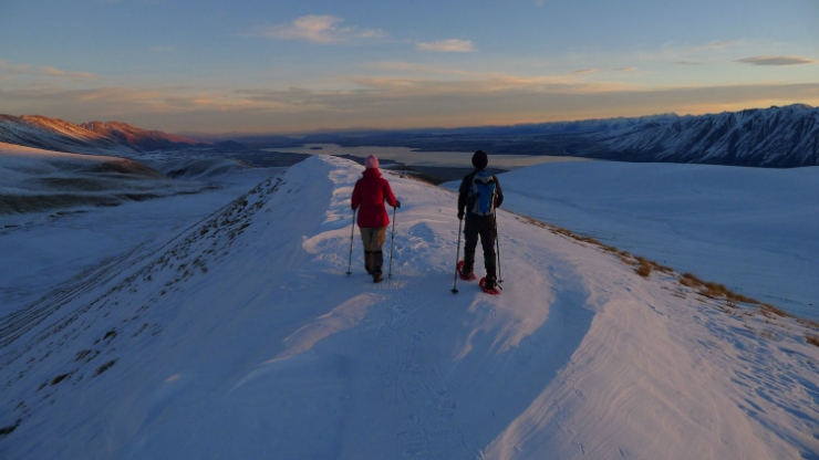 Snowshoeing New Zealand, photo credit Adventure South