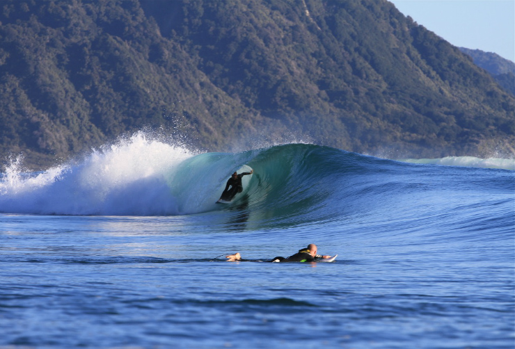 Surfing Fiordland New Zealand with Awarua Guides