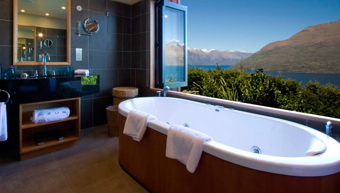 Azur luxury lodge accommodation queenstown new zealand for Exclusive accommodation