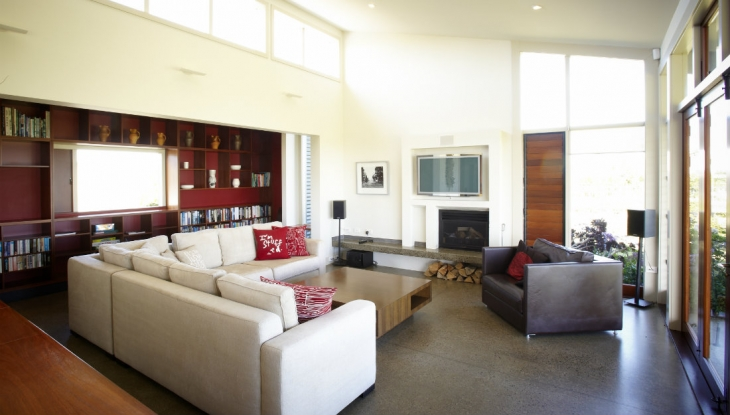 Haumoana House living room, Millar rd, Hawkes Bay