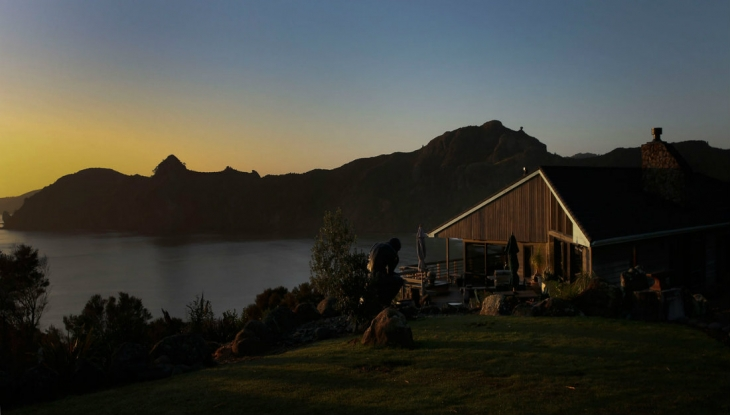 Taupo Bay Lodge sunset