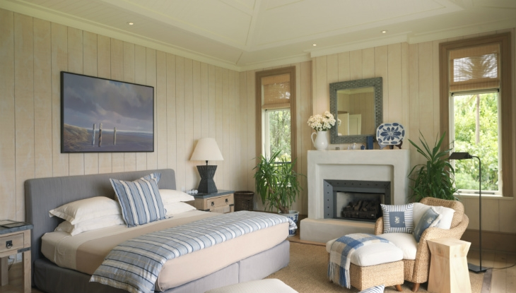 Kauri Cliffs Owners Cottage, master bedroom