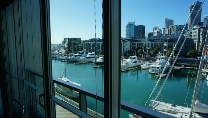 Sofitel Auckland Viaduct Harbour, view from room