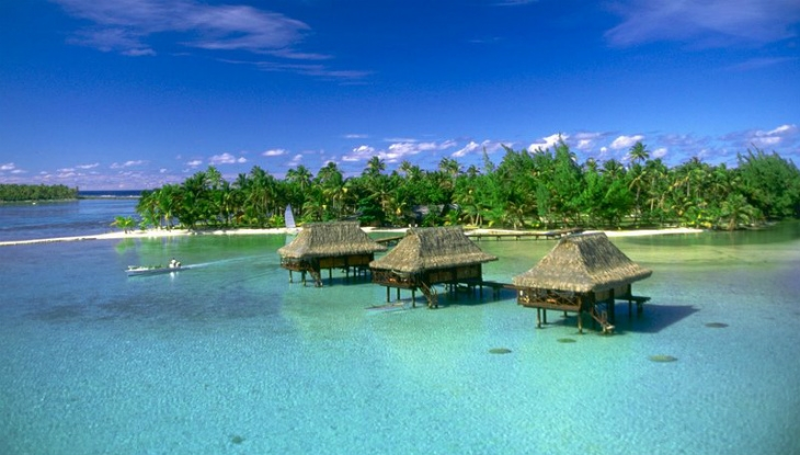 Vahine Island, Private Island Resort, Over Water Bungalows