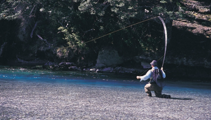 Fly fishing from Aoturoa, Wanaka